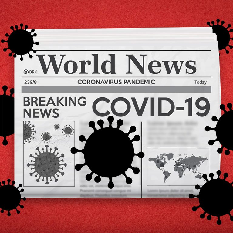 covid19 newspaper illustration