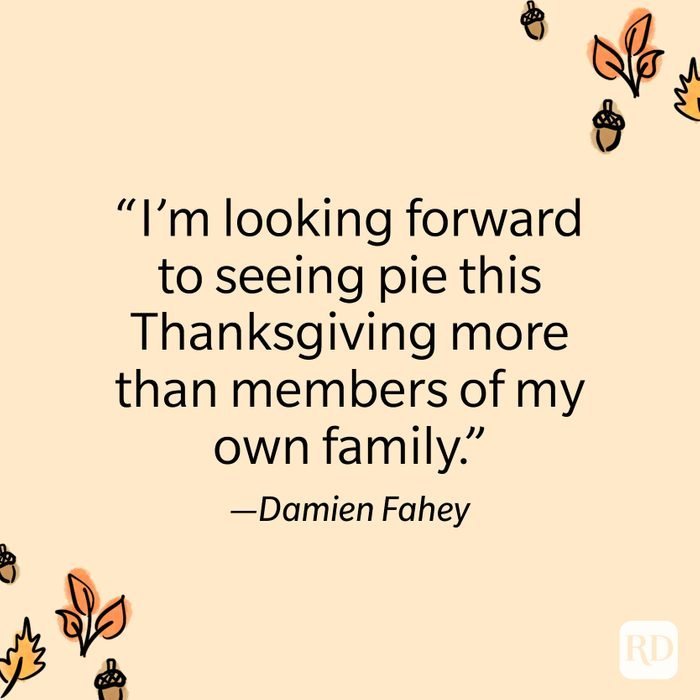 Damien Fahey Thanksgiving Quote