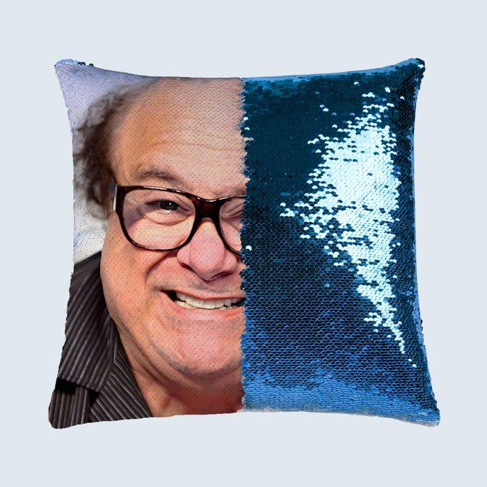 Danny Devito sequin pillow