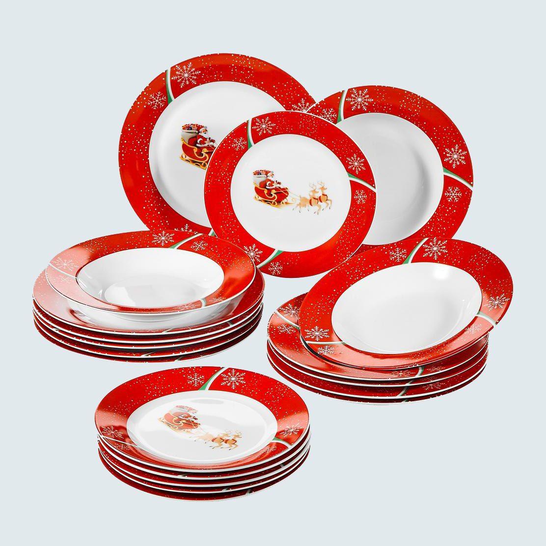 Weveet 18-Piece Porcelain Dinnerware Set