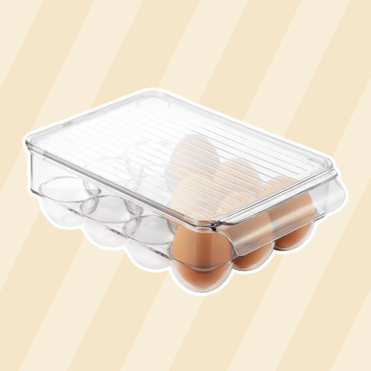 InterDesign Fridge Binz 12-Egg Holder with Lid