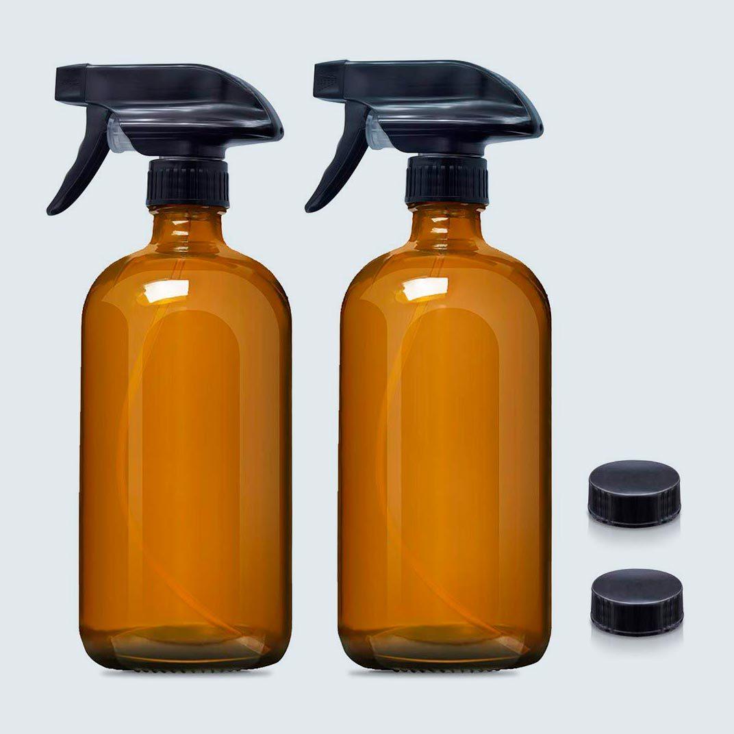 JJovce Amber Glass Spray Bottles