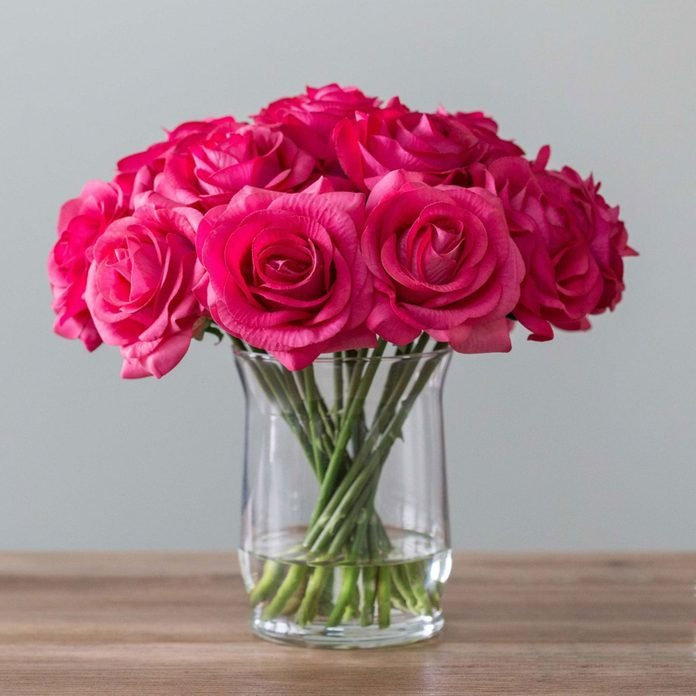 GlamFloral Real Touch Rose Flower Arrangement