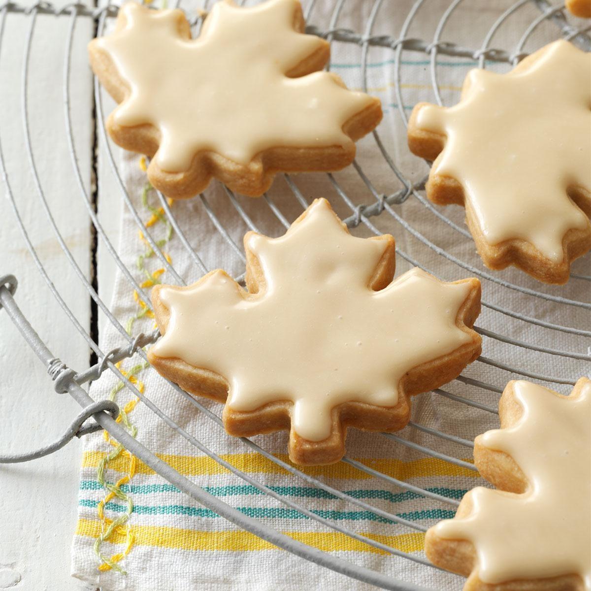 Glazed Maple Shortbread Cookies