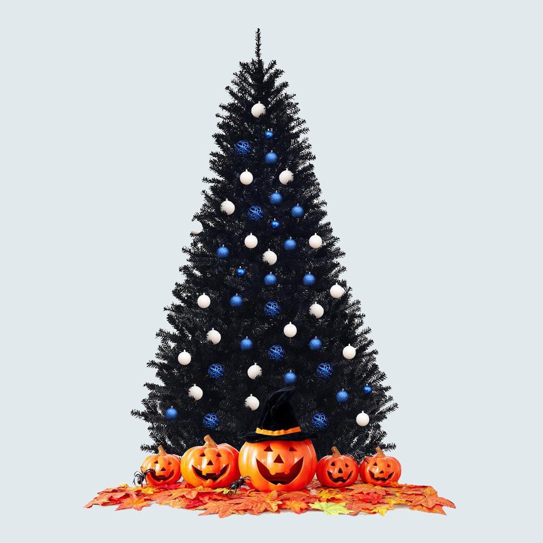 Costway Unlit Artificial Halloween Christmas Tree