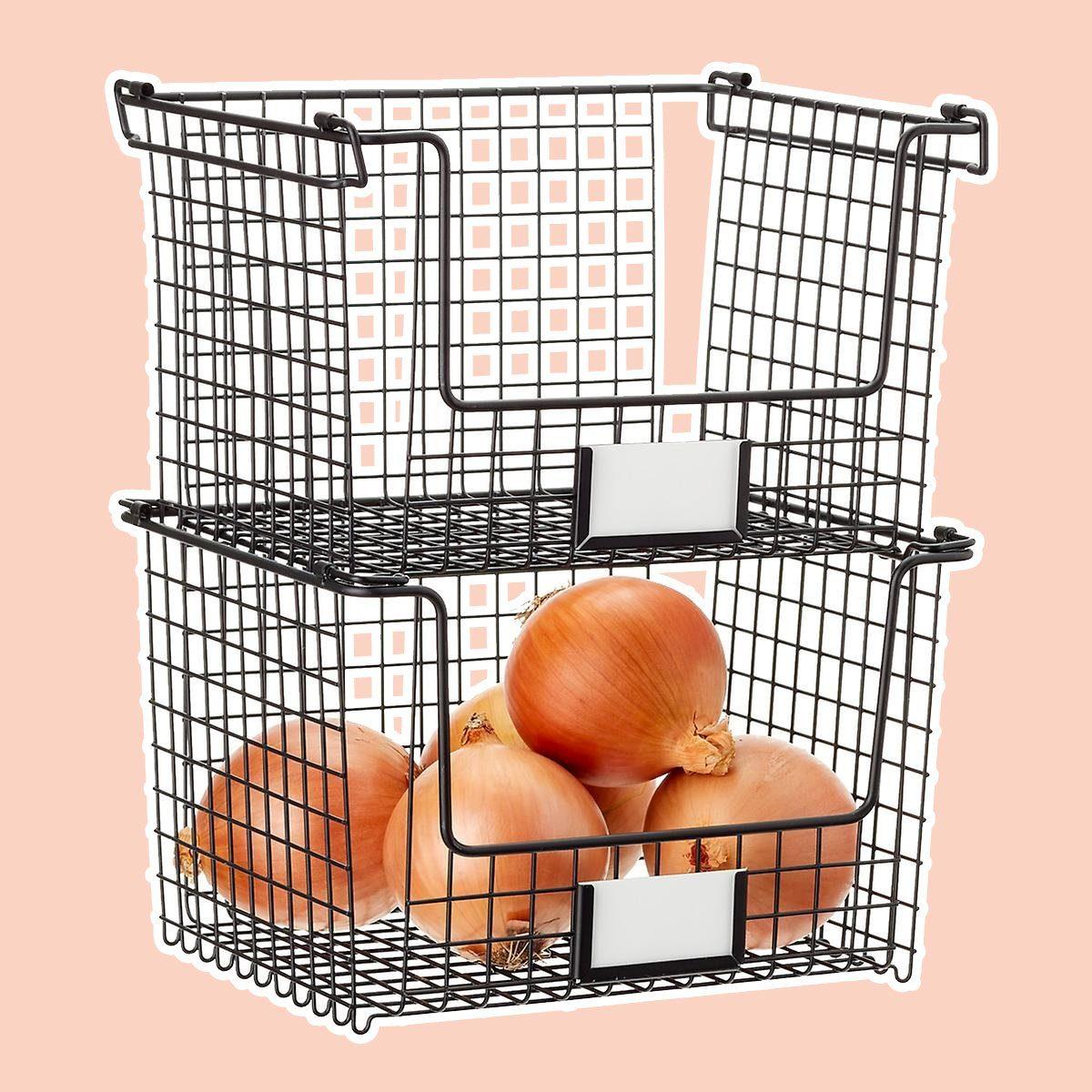 iDesign Black Stackable Basket