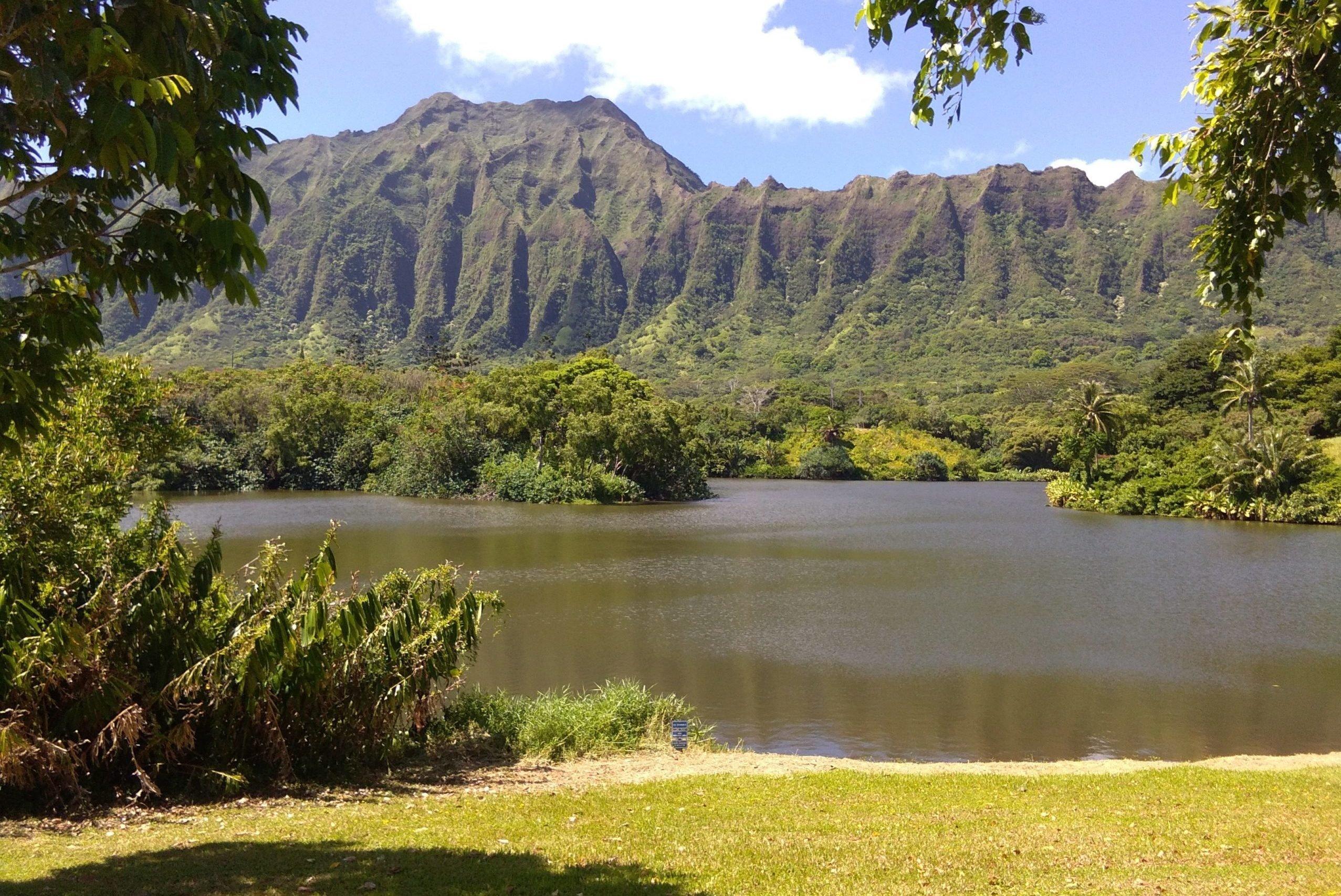Hawaii: Ho'omaluhia Botanical Garden Lake