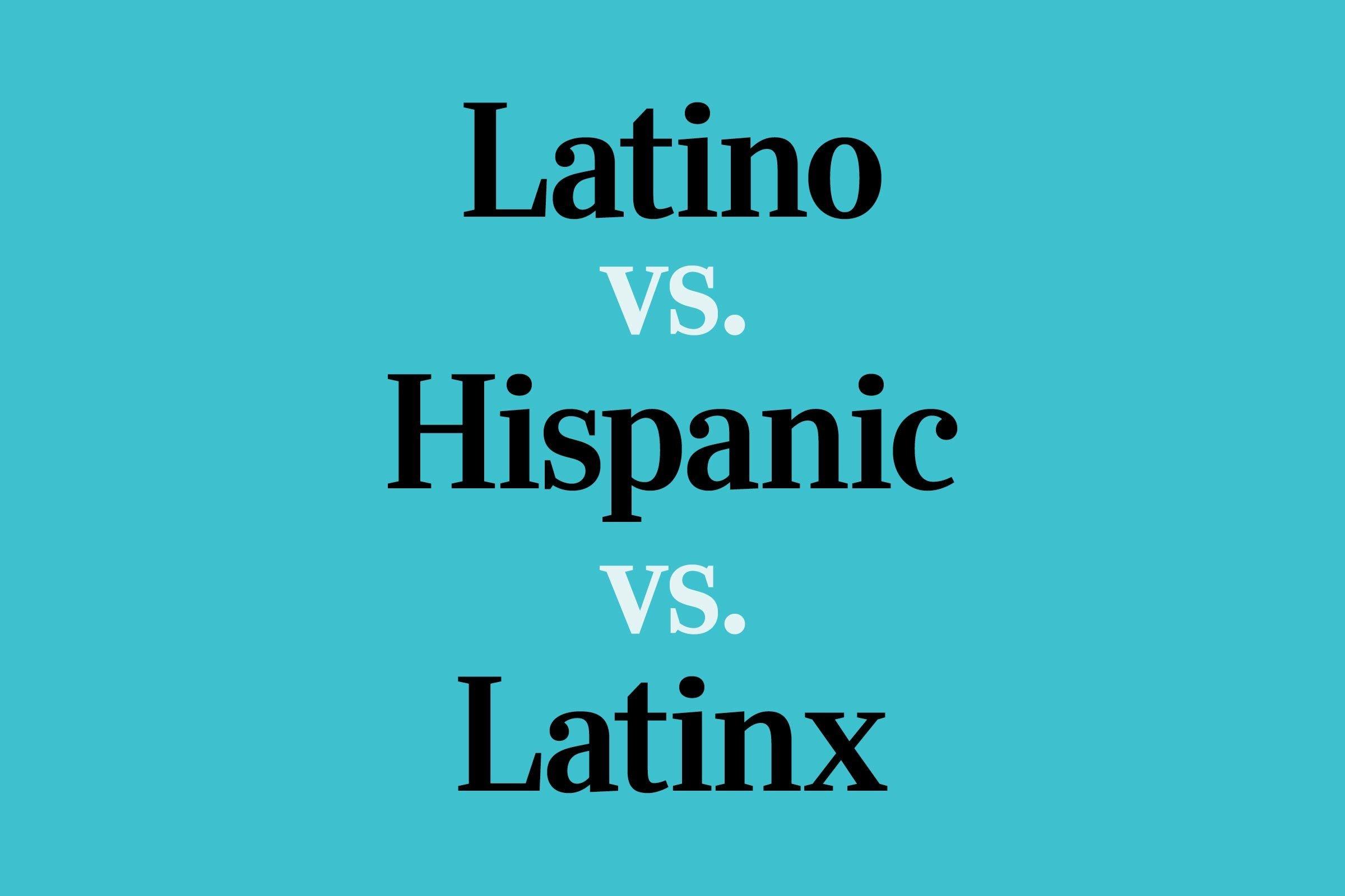 text: latino vs hispanic vs latinx