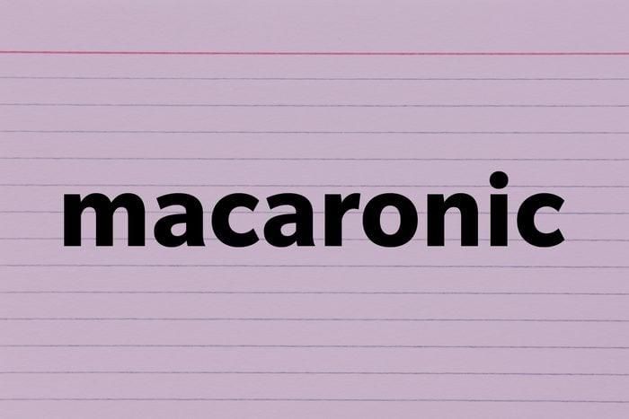 Macaronic
