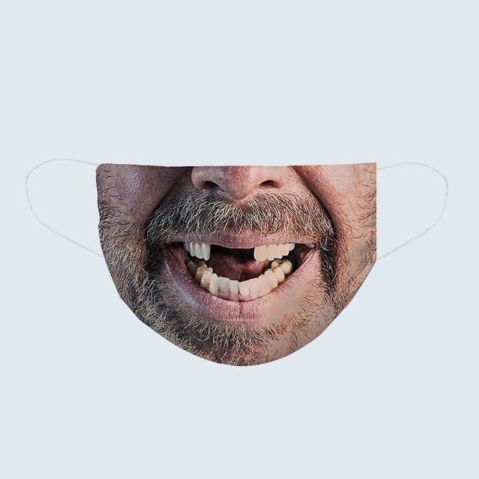 Toothless smile face mask