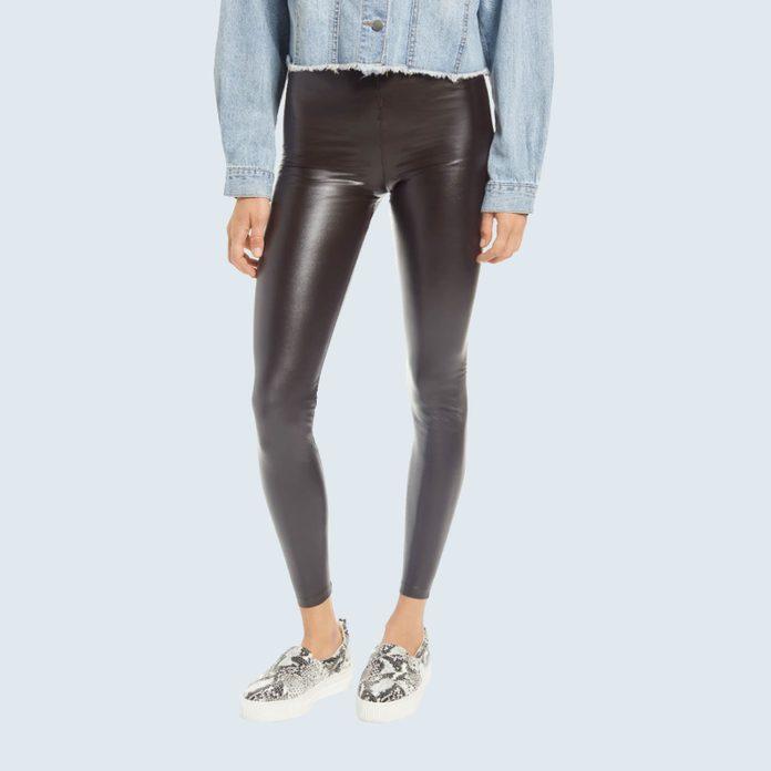 Hue Faux Leather High Waist Leggings