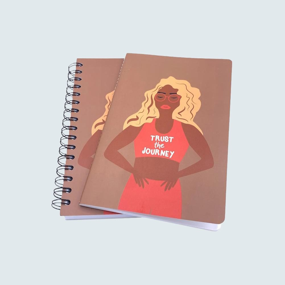 Be Rooted Co. Trust the Journey Spiral Notebooks