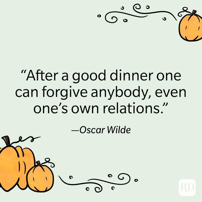 Oscar Wilde Thanksgiving Quote