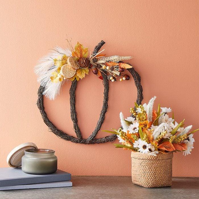 Pumpkin Grapevine Wreath