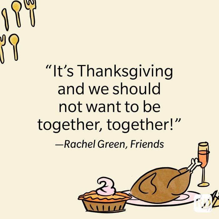 Rachel Green Thanksgiving Quote