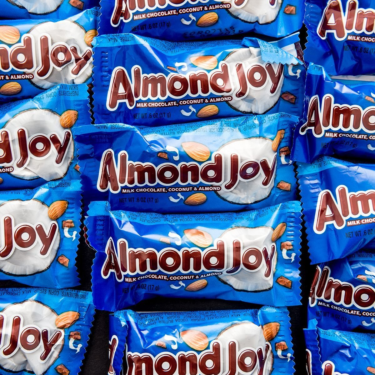 Winneconne, WI - 14 April 2019: A close-up package of Almond Joy coconut candy bars on an isolated background; Shutterstock ID 1369307348