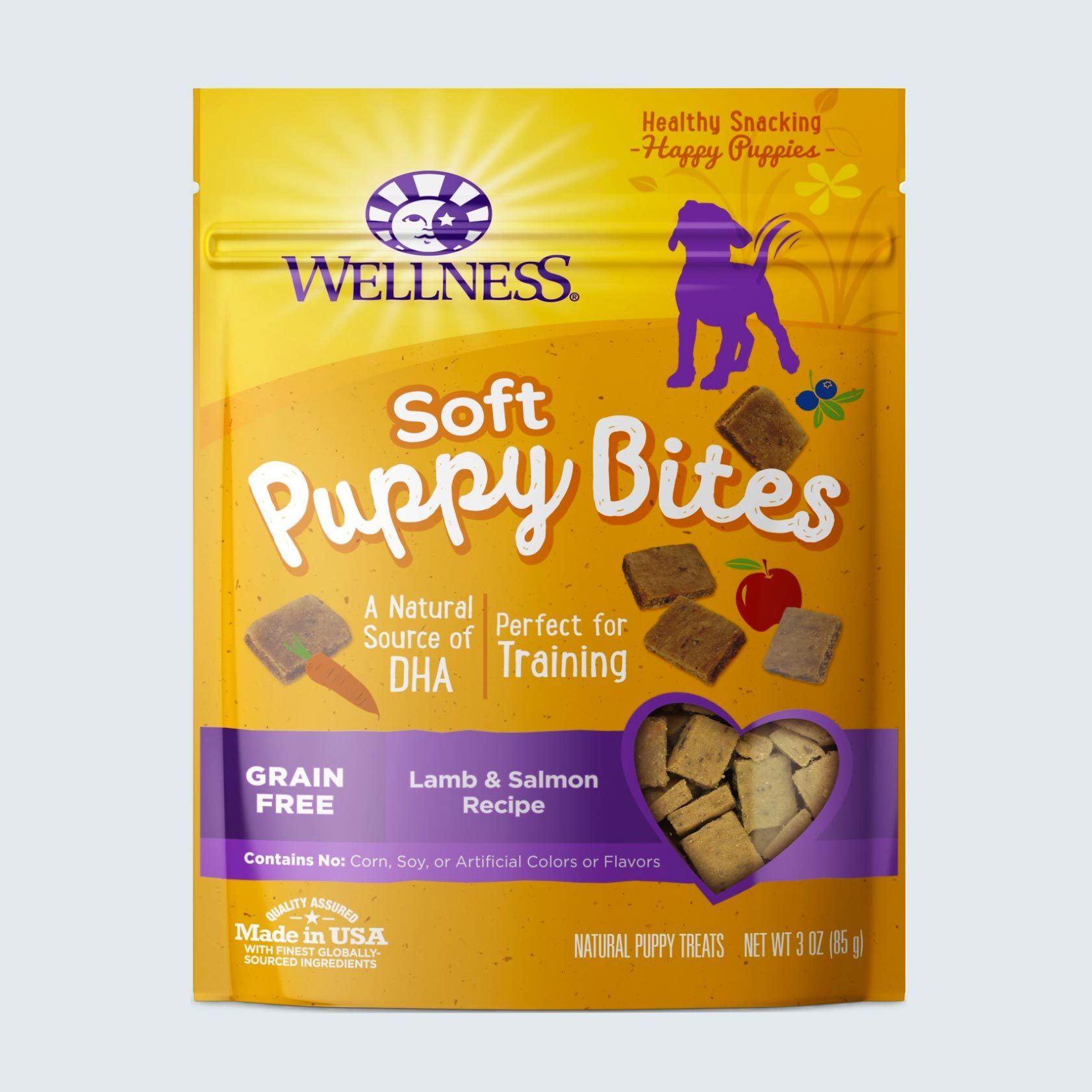 Wellness Soft Puppy Bites Grain-Free Lamb & Salmon Recipe Dog Treats