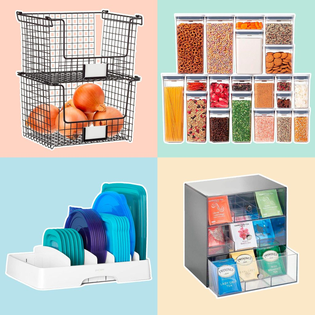 storage containers to organize your pantry