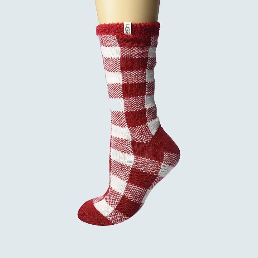 UGG Women's Vanna Check Fleece Lined Socks