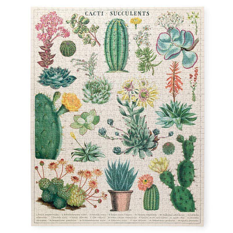 vintage succulent puzzle