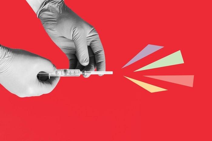 Coronavirus vaccine photo illustration