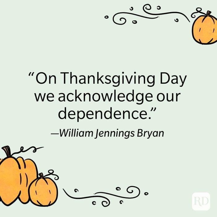 William Jennings Bryan Thanksgiving Quote