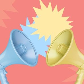 Two megaphones pointing at each other