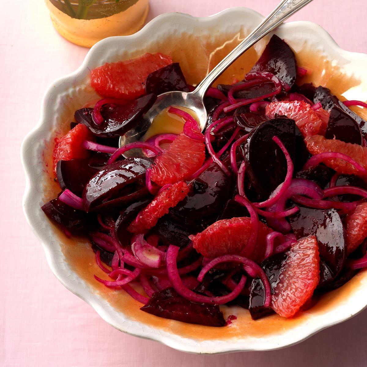 Beet, Grapefruit & Onion Salad