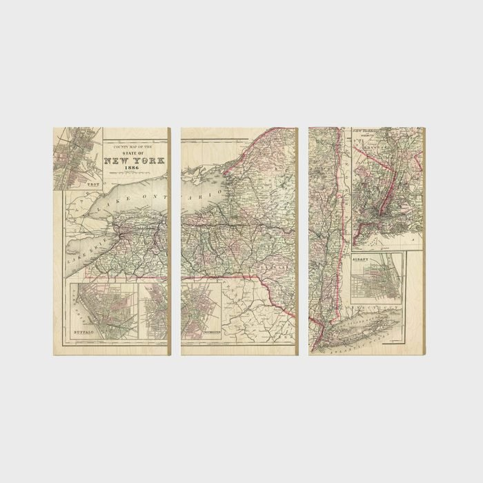 Daydreamhq Rustic Wood State Map