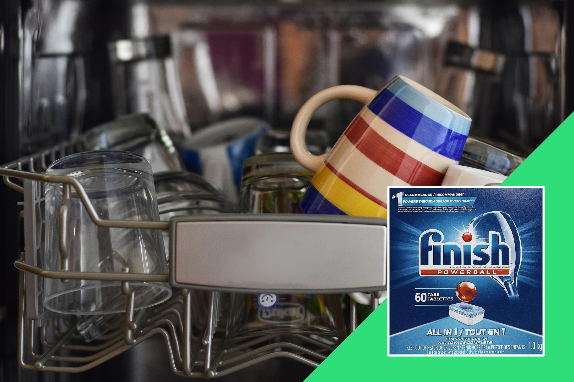 Mugs in the dishwasher