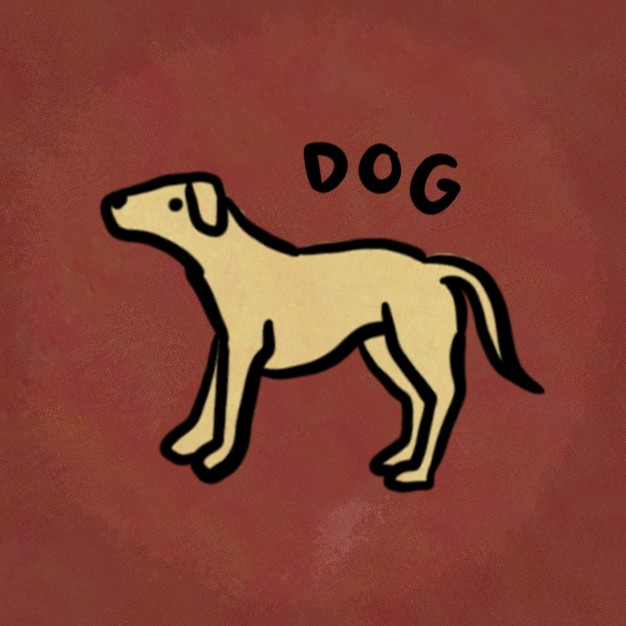 Illustration of animal from the chinese zodiac: Dog