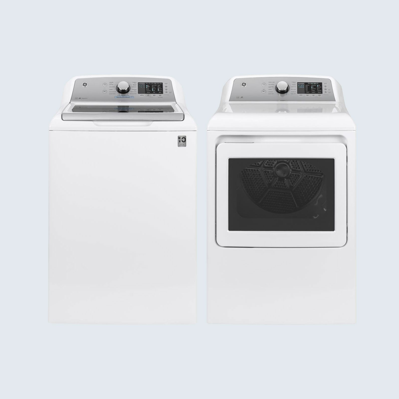GE High-Efficiency Top Load Washing Machine with FlexDispense and Electric Vented Dryer