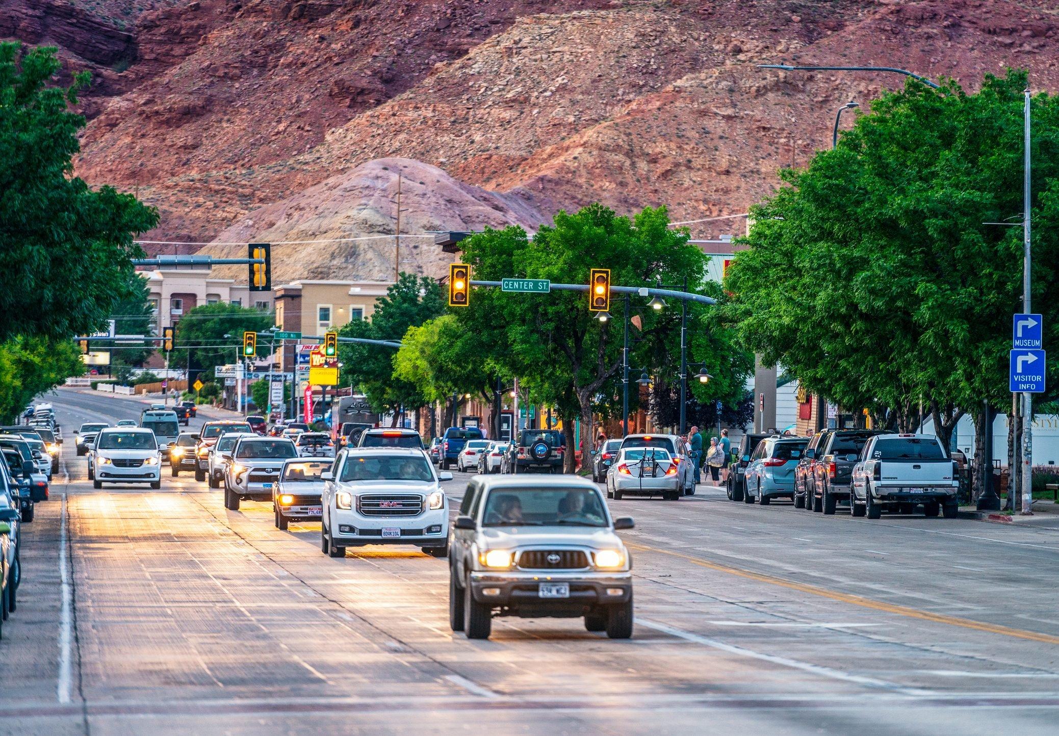 Moab traffic