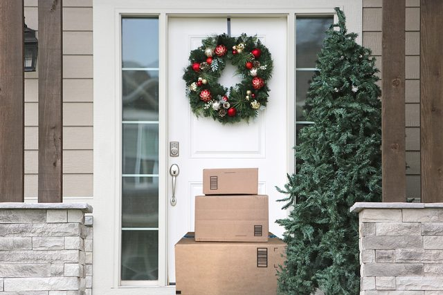 Christmas Wreath Front Door Packages