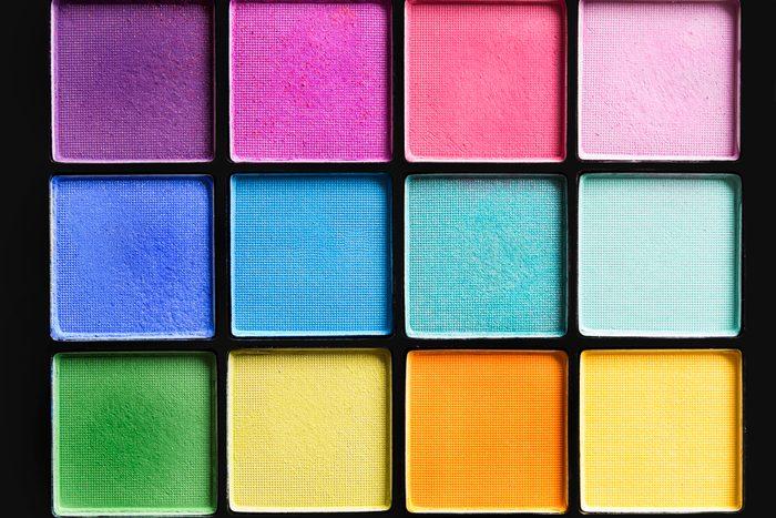 Colorful eyeshadows palette