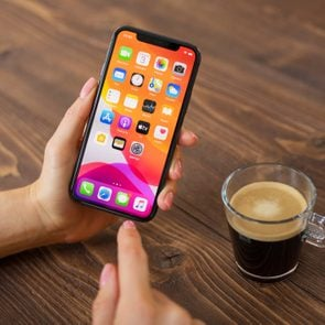 Person using Apple iPhone 11 Pro.