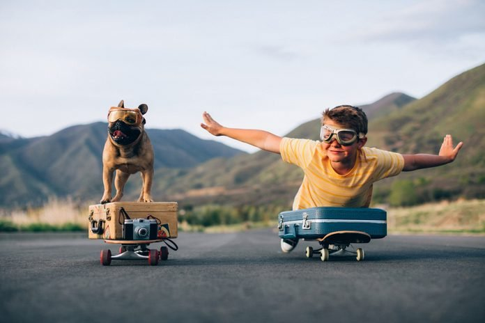 Traveling Boy and his Dog