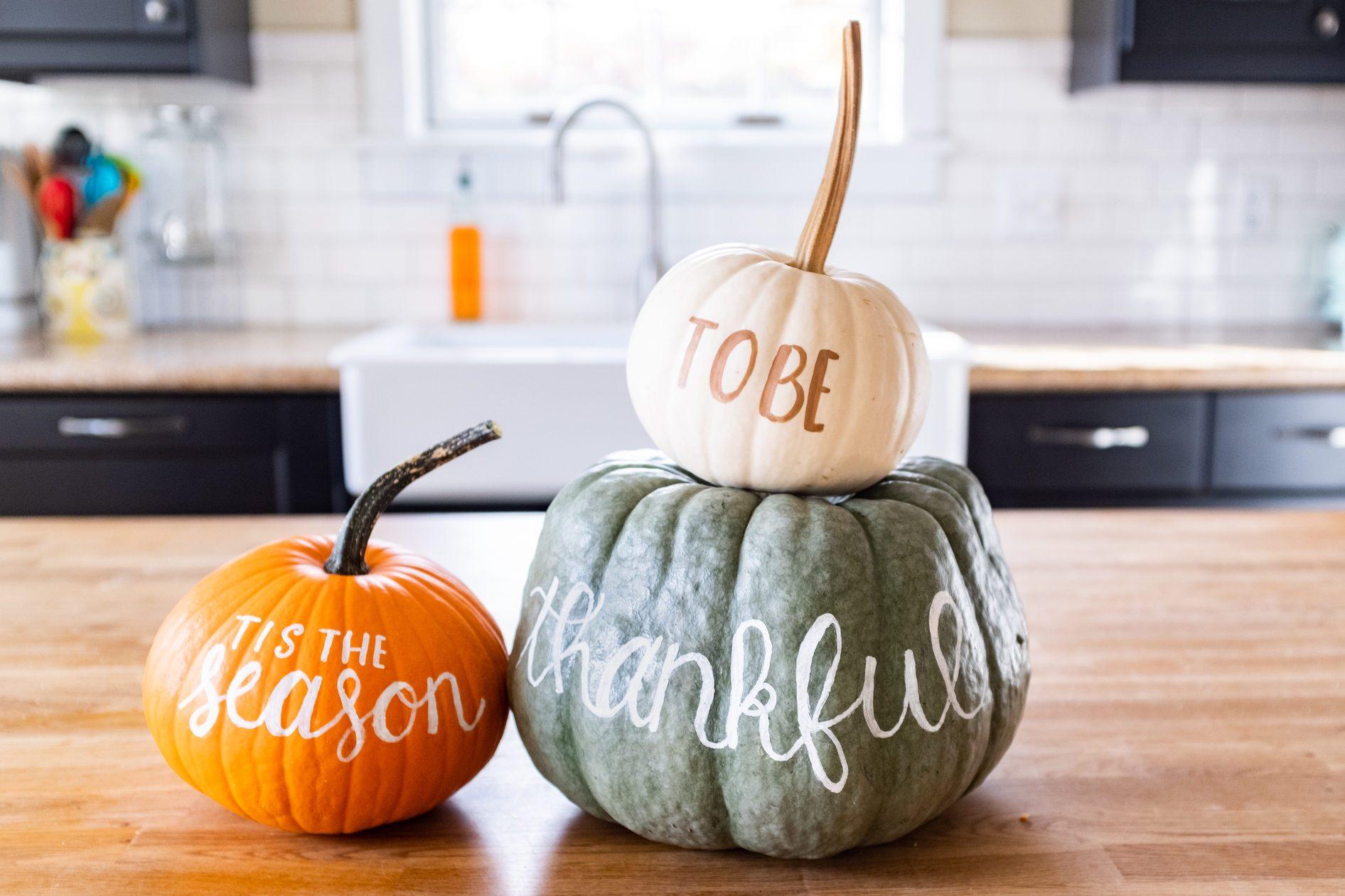 Thanksgiving pumpkin display