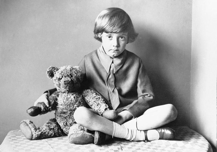 Christopher Robin Milne And Teddy Bear