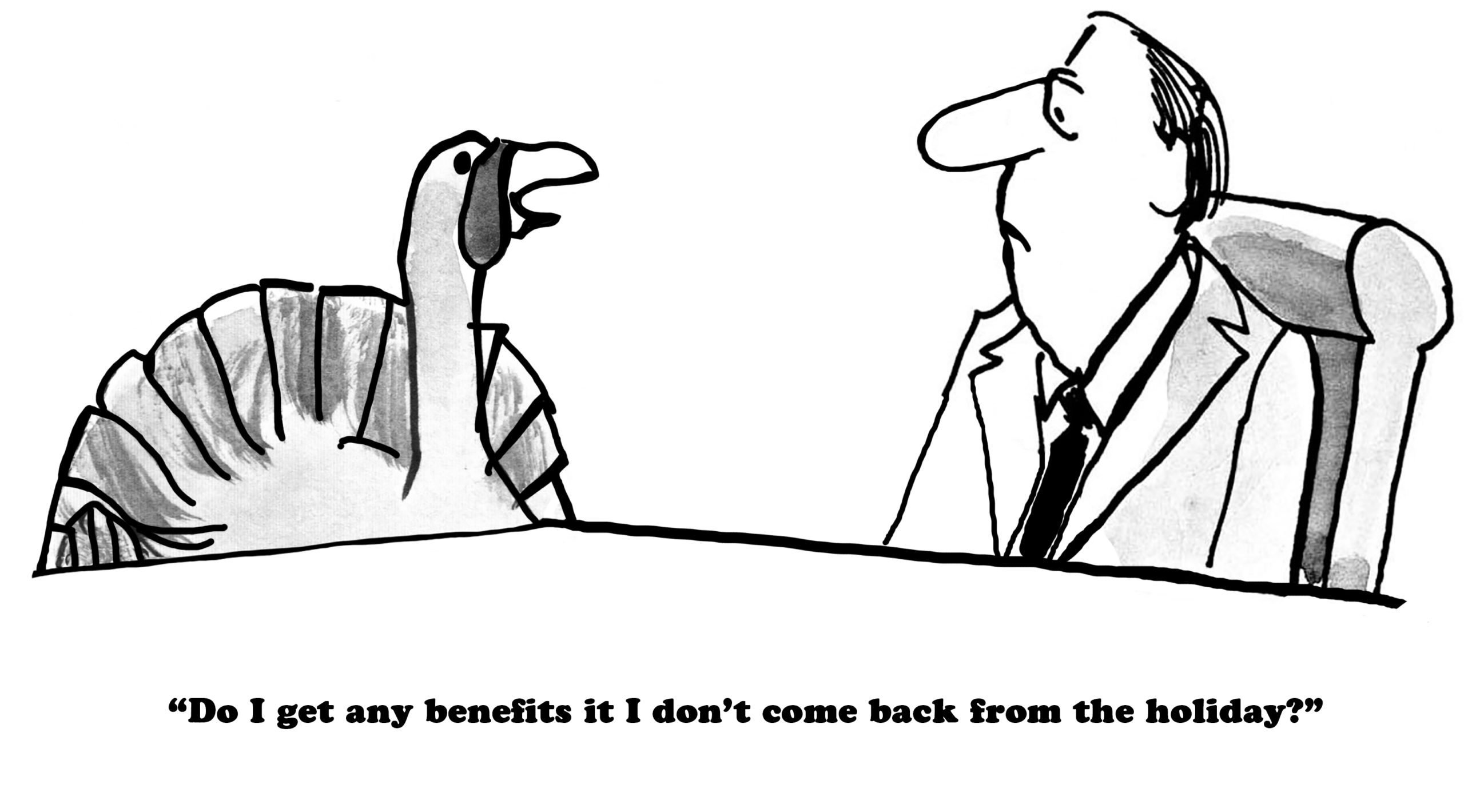 Death Benefits - Thanksgiving cartoon