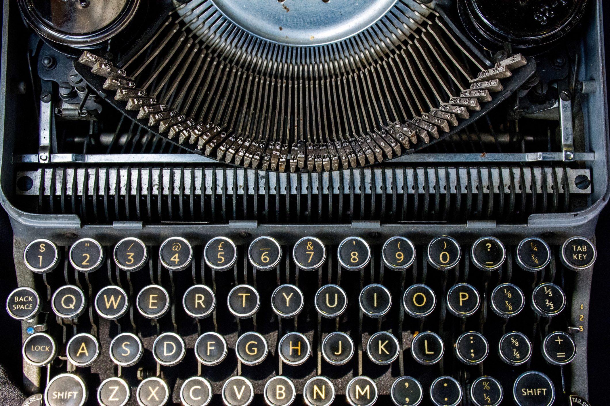 Directly Above Shot Of Old Typewriter