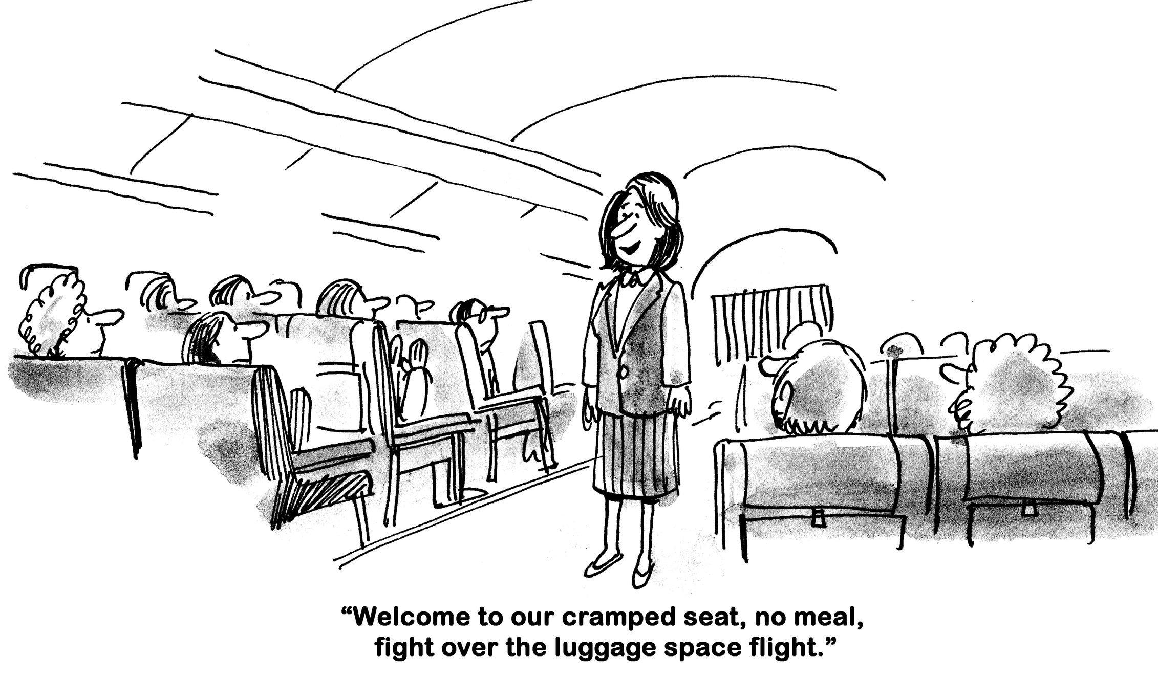 No Frills - holiday travel thanksgiving cartoon