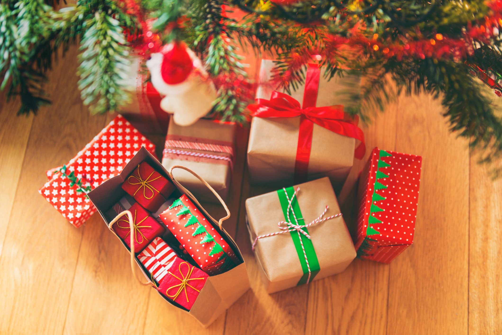 Christmas Presents under Christmas Tree