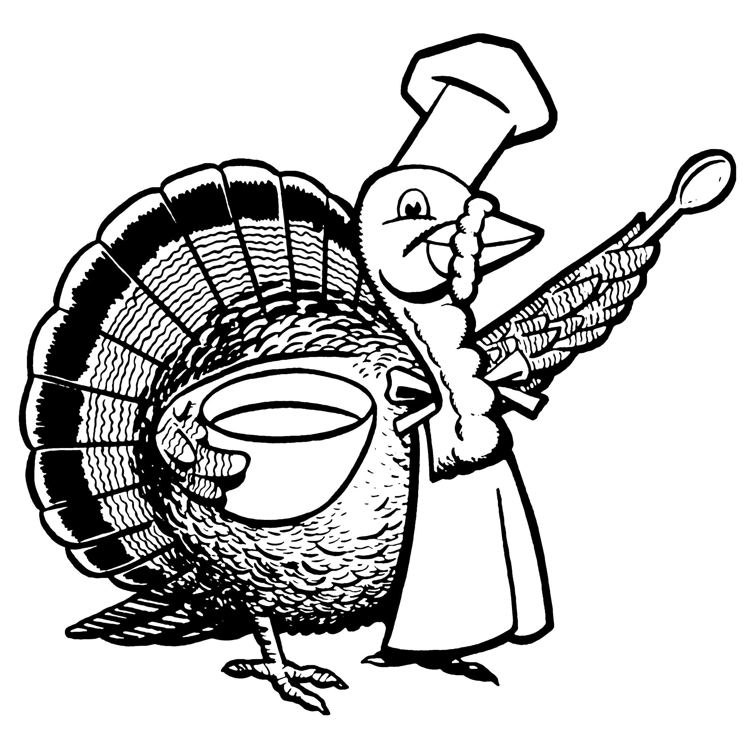 turkey chef cartoon