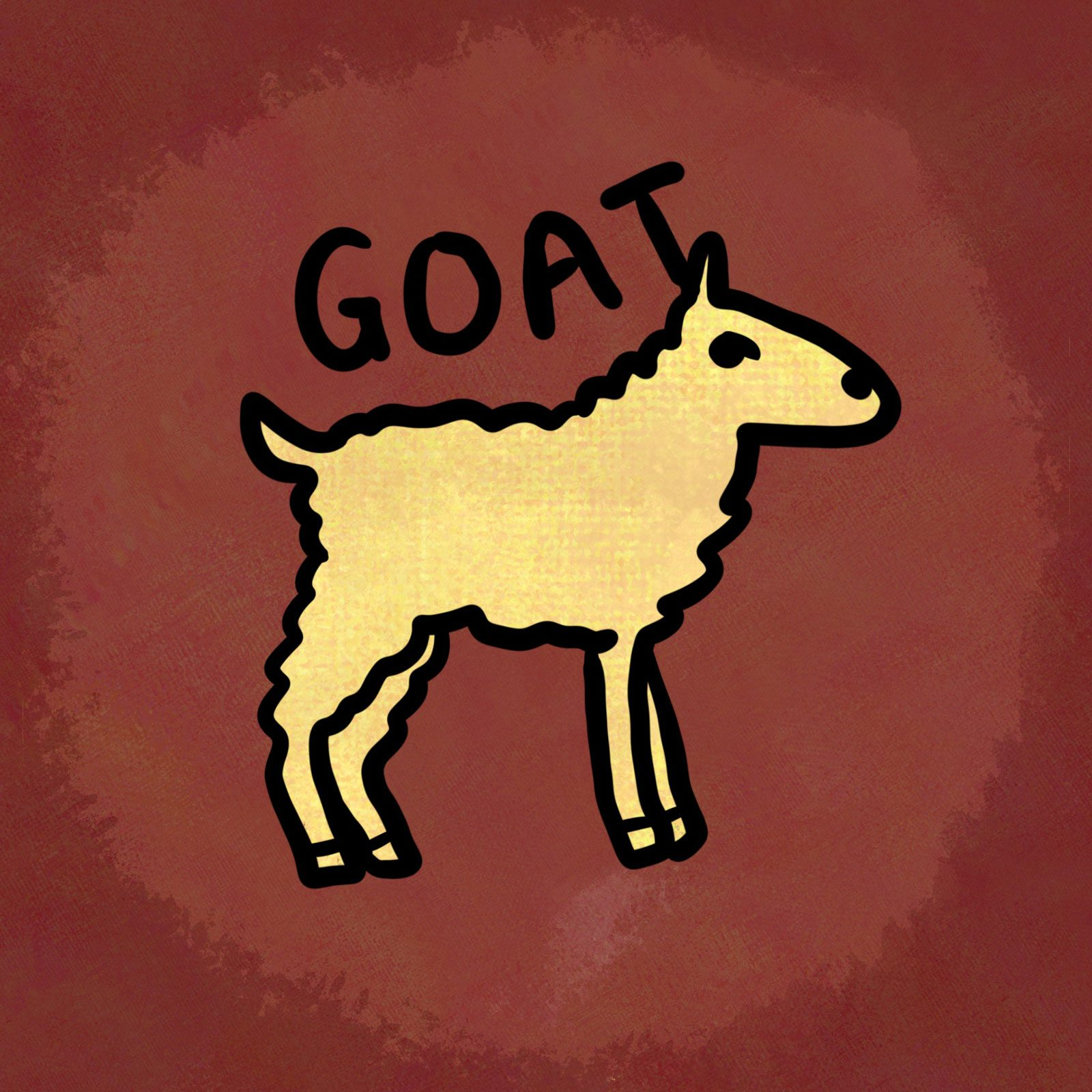 Illustration of animal from the chinese zodiac: Goat