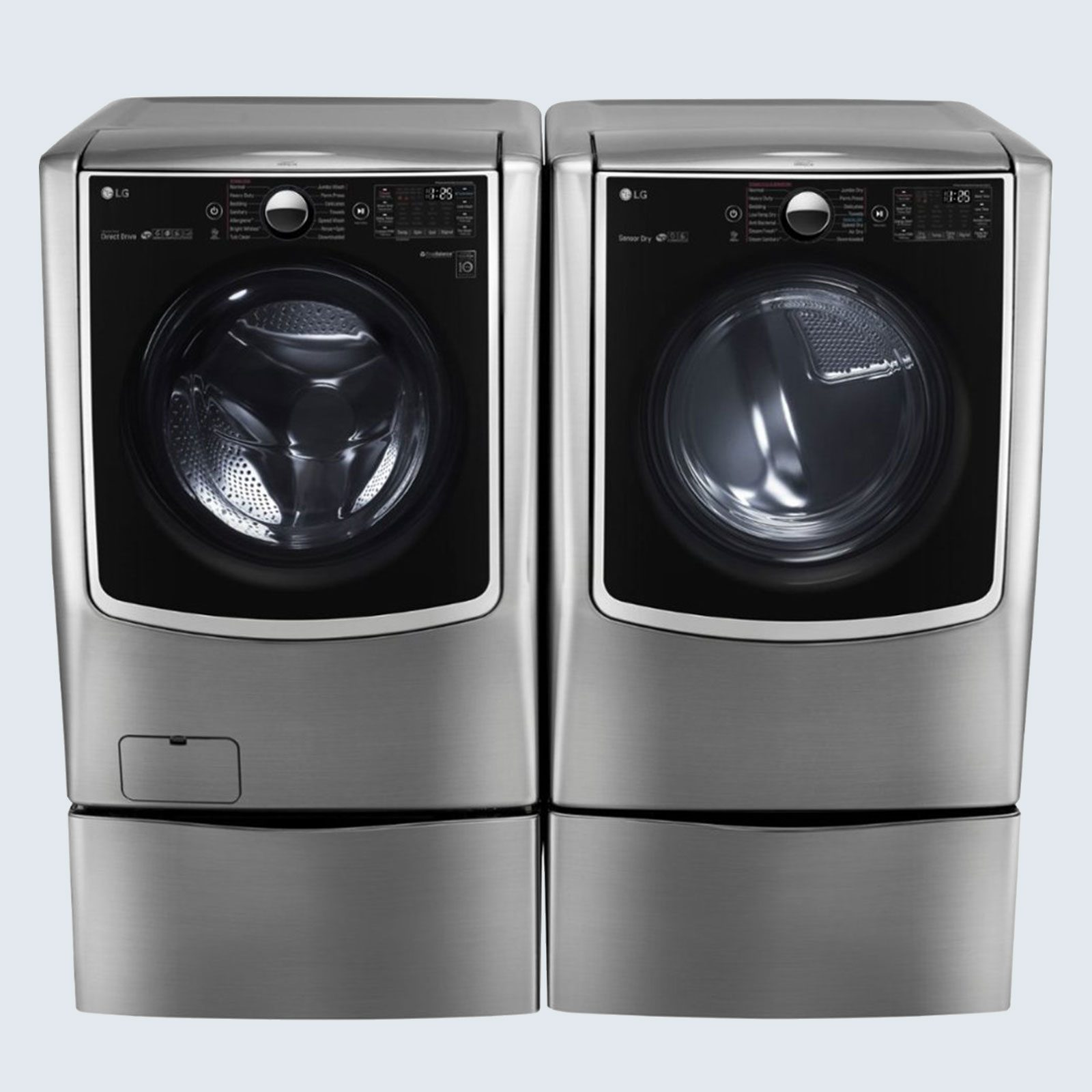 LG Front Loading Smart Wi-Fi Washer and Electric Steam Dryer