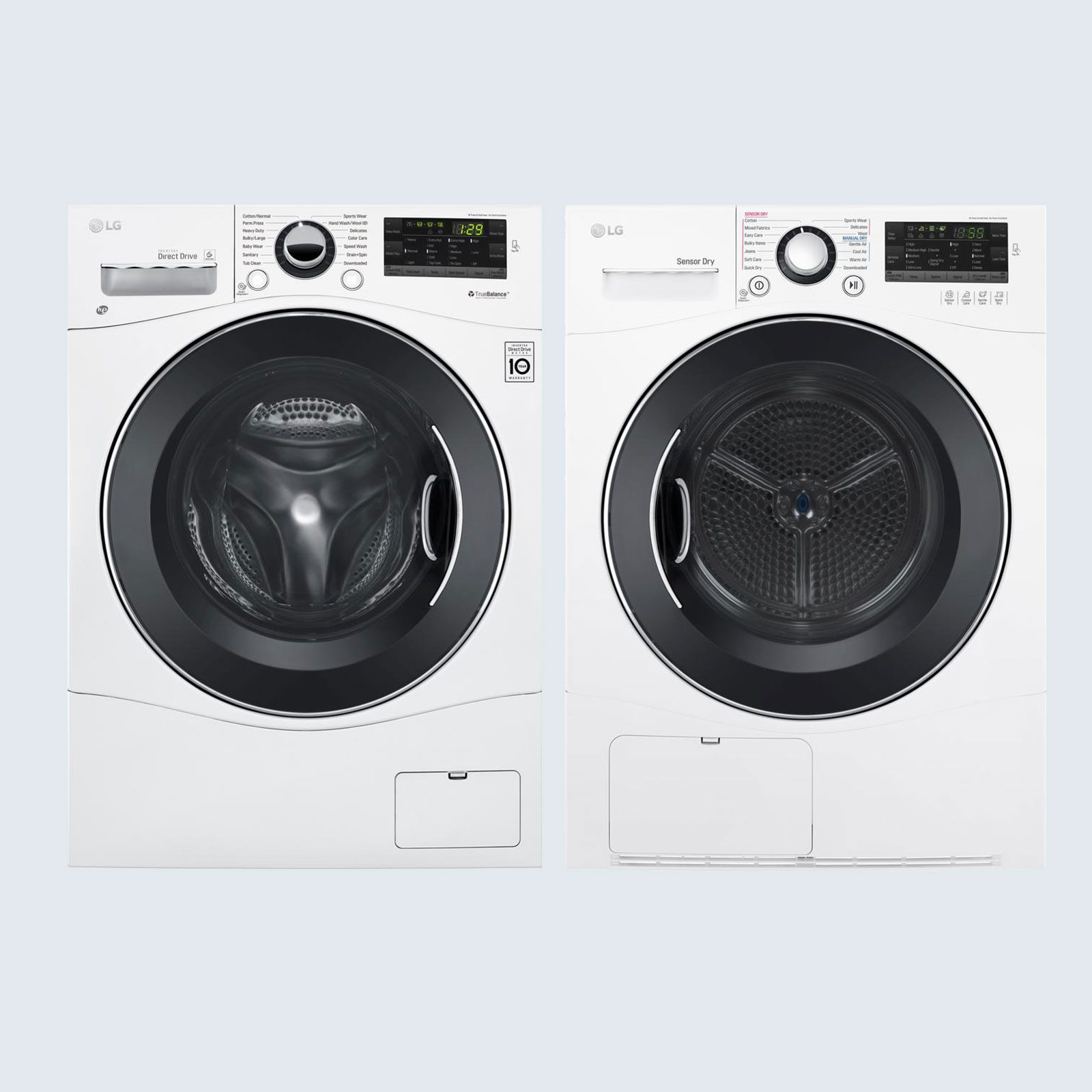 LG Compact Front Load Washer and Stackable Electric Ventless Dryer