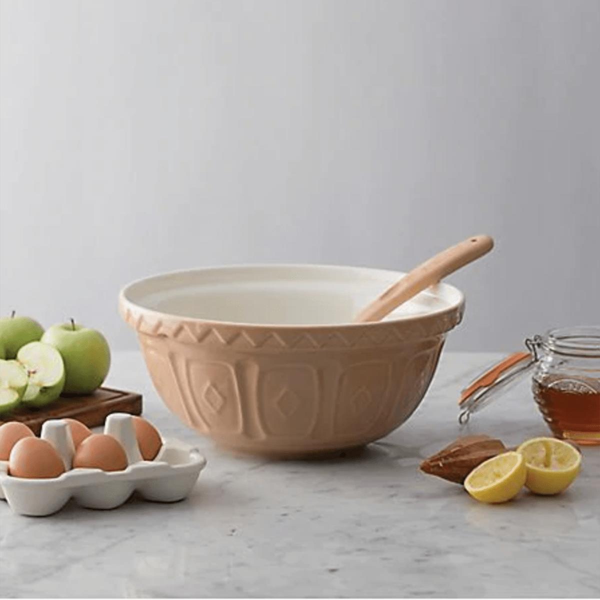 Mason Cash® Earthenware Mixing Bowl in Cane