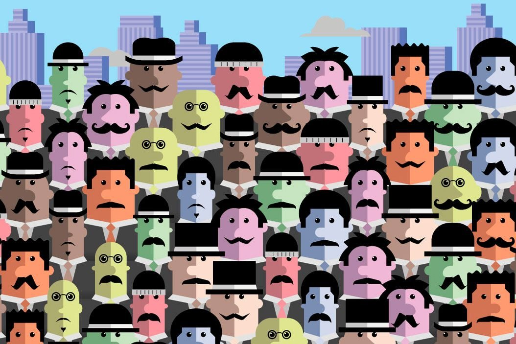 illustration of men with mustaches