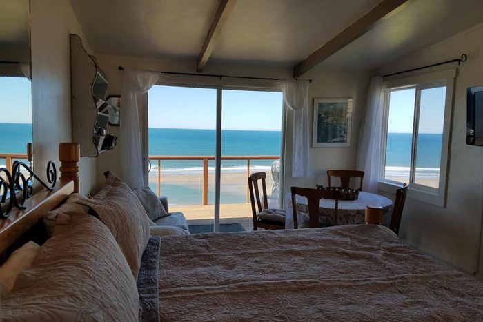 view of Oregon Ocean from beach house airbnb